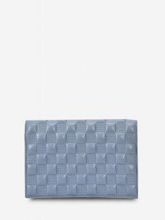 Sac à Bandoulière Chaîne Texturé à Carreaux - Bleu De Mer