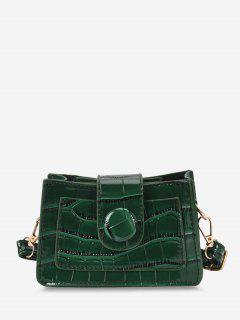 Solid Embossed Slit Pocket Crossbody Bag - Sea Green