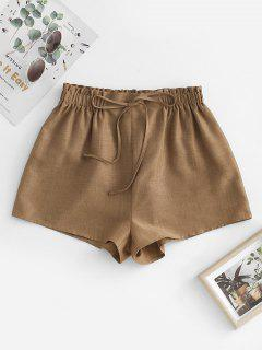 ZAFUL Pull On Paperbag Shorts - Coffee S