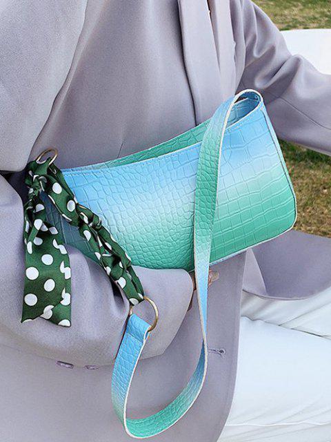 Gepunktete Schal Drucken Geprägte Ombre Umhängetasche - Blau  Mobile