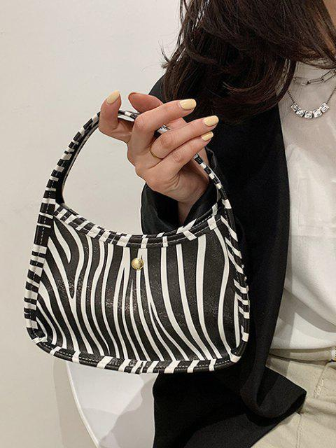 Tierdruck Griff Mini Handtasche - Schwarz  Mobile