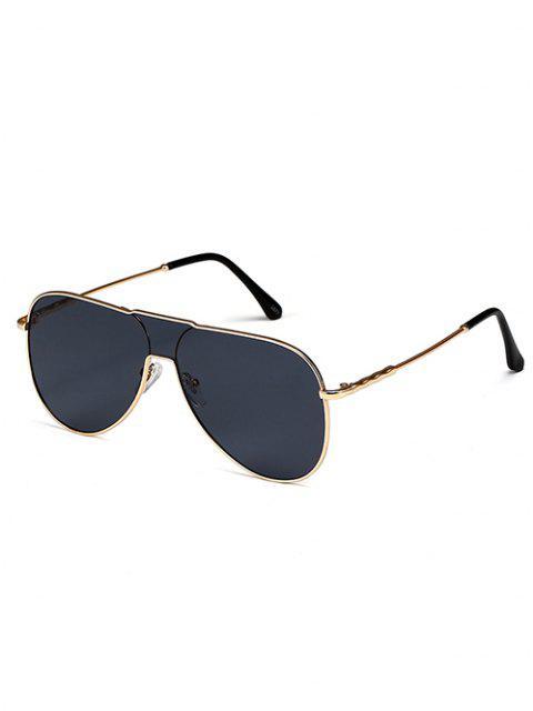 Einteilige Sonnenbrille aus Metall - Schwarz  Mobile
