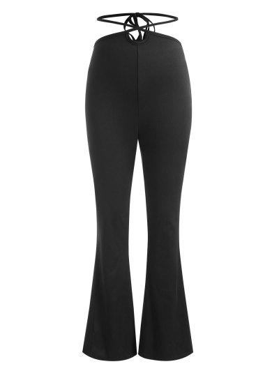 Midriff Flossing Bootcut Pants - Black S