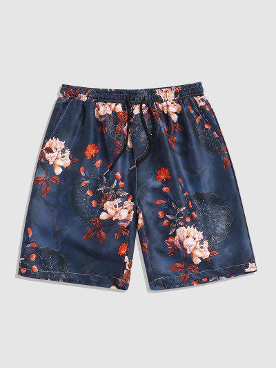 Shorts De Playa De Flores De Vendimia - Multicolor Xl