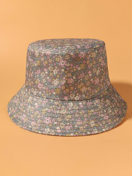 unique Tiny Floral Print Bucket Hat - DARK KHAKI