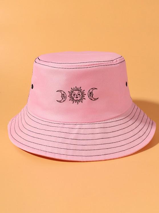 Sun And Moon Print Bucket Hat - زهري