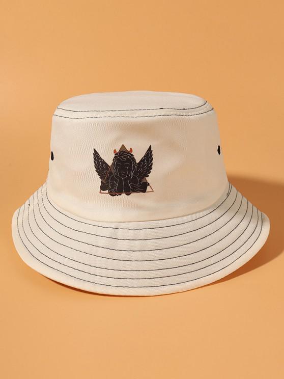 new Angel Printing Bucket Hat - BEIGE