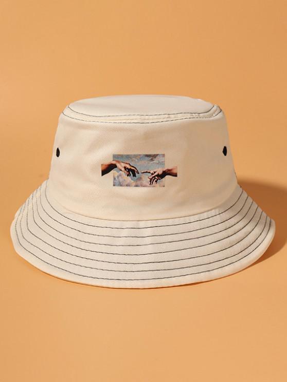 Hände Muster Bucket Hut - Beige