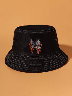 Sombrero De Cubo Cubo Estampado Mariposa - Negro