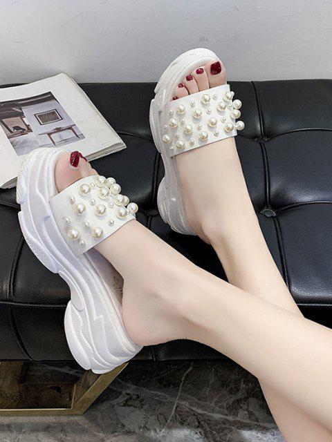 Künstliche Perle Sportliche Hausschuhe - Weiß EU 38 Mobile