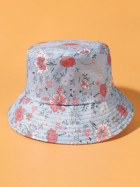Blumen Druckender Bucket Hut - Hellblau  Mobile