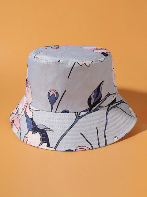 Großer Blumen Bucket Hut - Mauve  Mobile