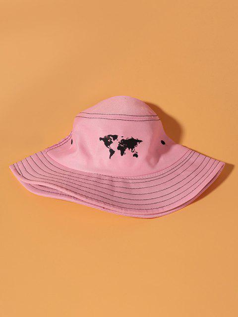 Weltkarte Druckkunst Bucket Hut - Pink  Mobile
