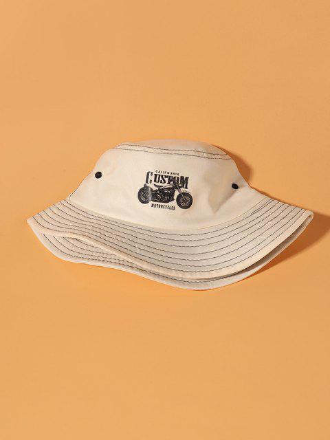 Motorraddruck-Eimer-Hut - Beige  Mobile