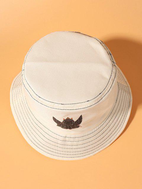 Engeldruck Bucket Hat - Beige  Mobile