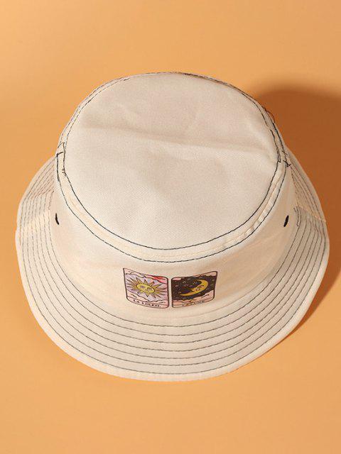 Sternendruck Sonne und Mond Bucket Hut - Beige  Mobile