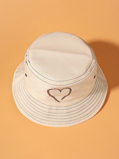Leopard Herzdruck Bucket Hut - Beige  Mobile