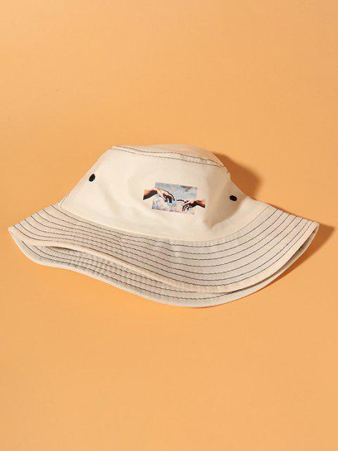 Hände Muster Bucket Hut - Beige  Mobile