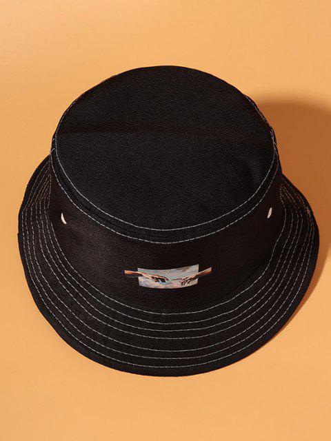Hände Muster Bucket Hut - Schwarz  Mobile