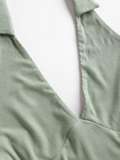 ZAFUL Neckholder Rückenfrei Minikleid mit Niedrigem Ausschnitt - Hellgrün L Mobile