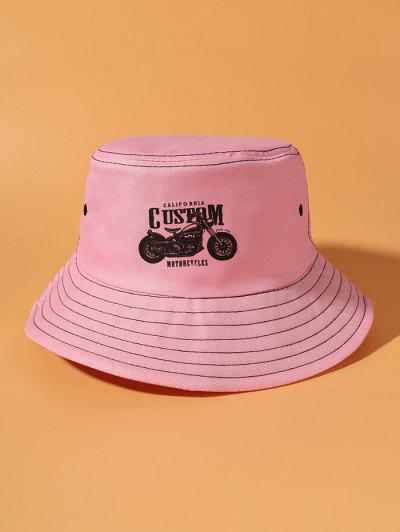 Motorcycle Print Bucket Hat - Pink