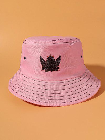 Angel Printing Bucket Hat - Pink