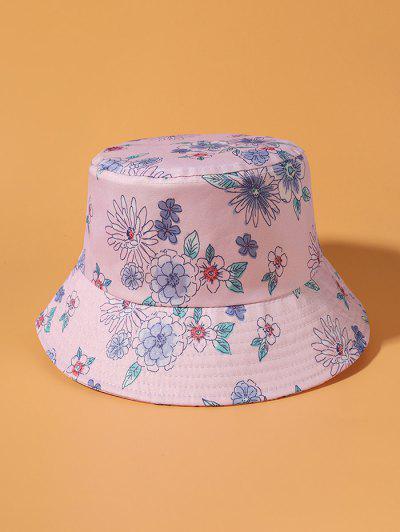 Flower Print Bucket Hat - Blossom Pink