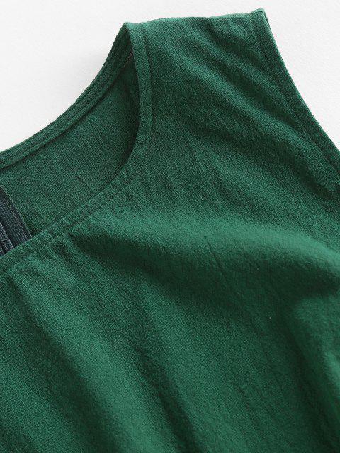 ZAFUL Ärmelloses Minikleid mit Ausschnitt - Dunkelgrün M Mobile