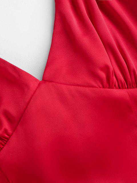 ZAFUL Gebundenes Bogen Ausschnitt Cami Kleid - Rot M Mobile