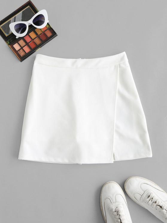 shop Slit Skirt with Shorts Underneath - WHITE S