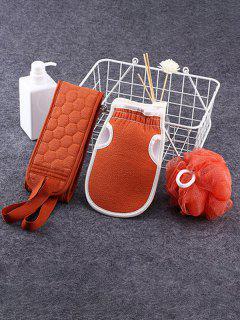 3Pcs Scrubbing Towel Shower Bath Puff Sponge Set - Arancia Zucca