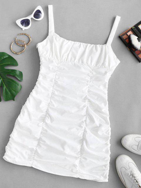Bodycon Korsett Dessousoberteil mit Spitze und Rüschen - Weiß M Mobile