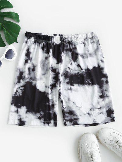 Tie Dye Bike Shorts - Gray L