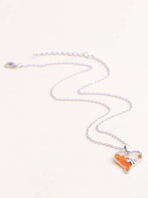 Herzförmige Einteilige Halskette und Anhänger Halskette - Silber  Mobile