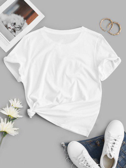 online Crew Neck Panda Need More Sleep Graphic Tee - WHITE XS Mobile