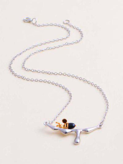 Gravierte Handherz Anhänger Halskette - Silber