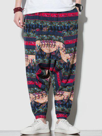 Pantalones Harem Estampado Cachemir - Multicolor-a M