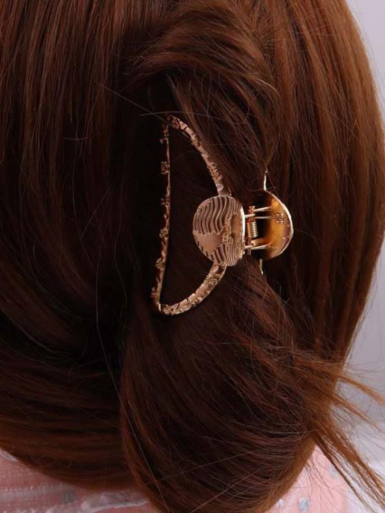 Gold-Tone Constellations Engraved Hair Claw Clip - ذهبي
