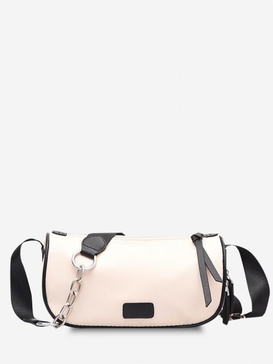 buy Colorblock Zippers Crossbody Bag - CRYSTAL CREAM