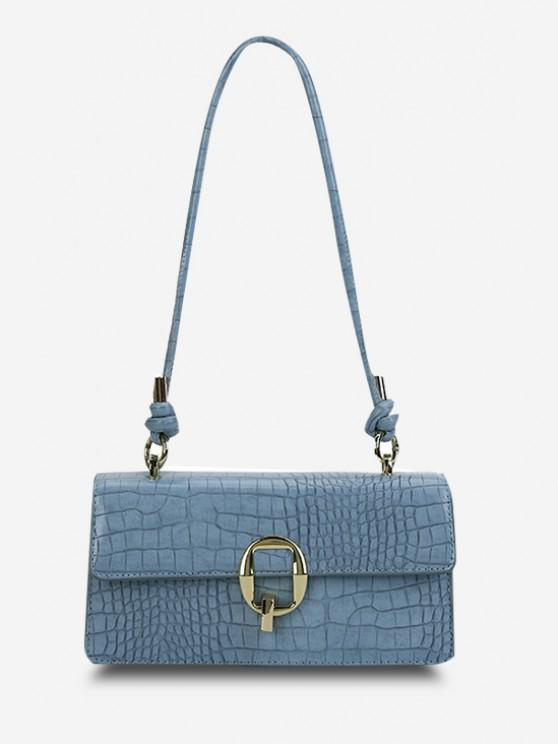 Stone Grain Knotted Shoulder Bag - أزرق