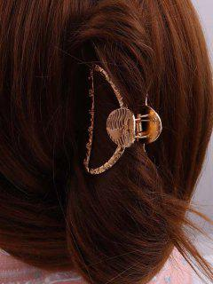 Gold-Tone Constellations Engraved Hair Claw Clip - Golden