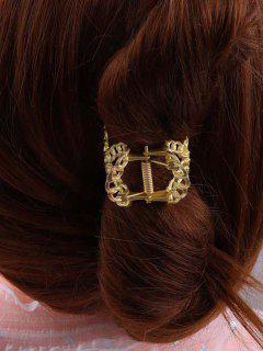 Pince à Cheveux Dorée Large De Grande Taille - D'or