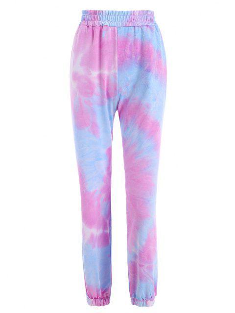 womens Tie Dye Pocket Jogger Pants - LIGHT PURPLE S Mobile