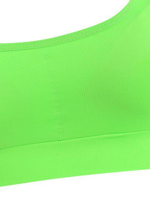 latest Racerback Padded Leggings Set - GREEN L Mobile