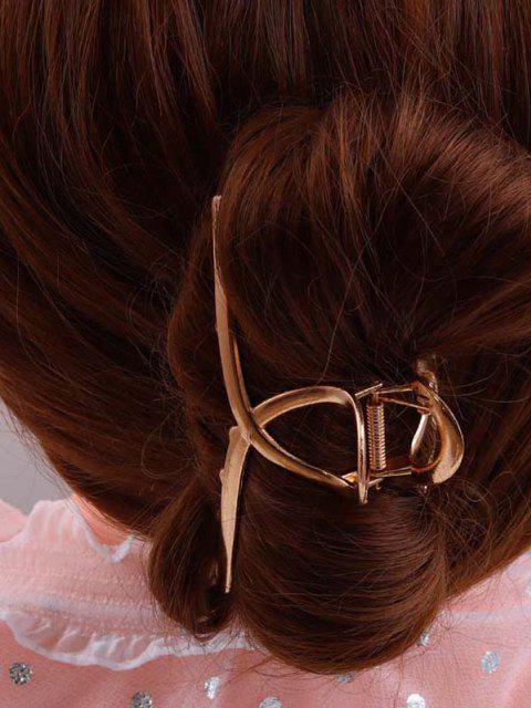 Großer Gold Überzogener Haarspange - Golden  Mobile