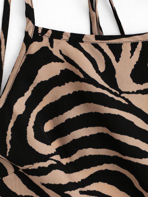 Mini Kleid mit Zebradruck und Offenem Rücken - Multi S Mobile