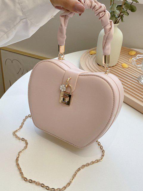Blumen Herzform Kette Handtasche - Rosa  Mobile