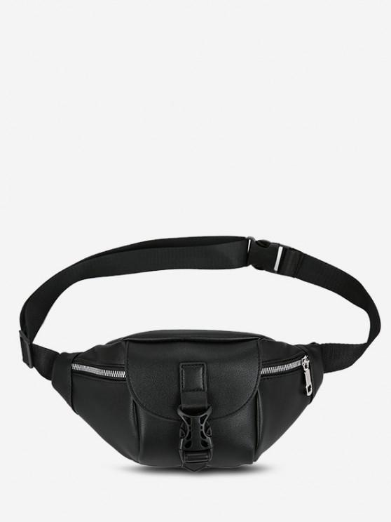 Release Buckle Chest Bag - أسود