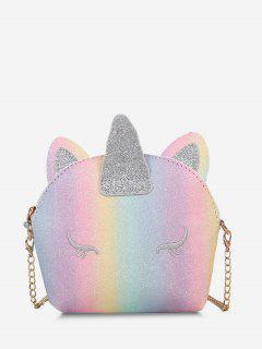 Glitter Unicorn Shape Crossbody Bag - Light Pink