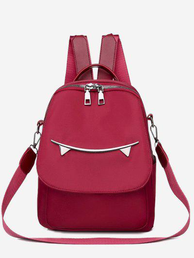 Cat Ear Pattern Backpack - Red